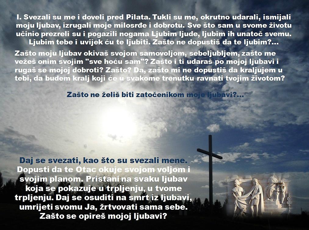 1. POSTAJA: ISUSA OSUĐUJU NA SMRT