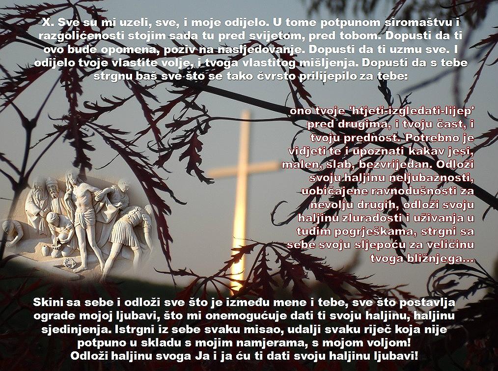 X. POSTAJA: ISUSA SVLAČE
