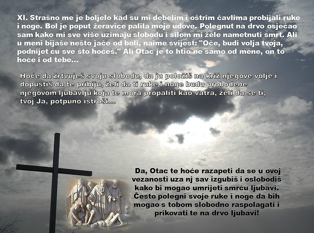 XI. POSTAJA: ISUSA PRIBIJAJU NA KRIŽ
