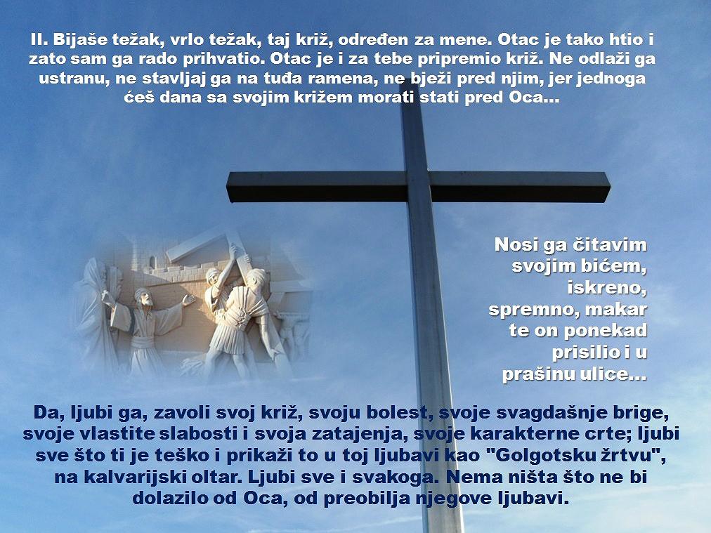 2. POSTAJA: ISUS PRIMA NA SEBE KRIŽ