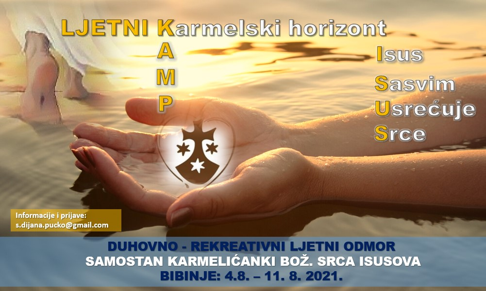 karmelski ljetni kamp 2021, plakat